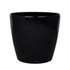Pot décoratif - noir brillant