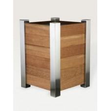 Bac à plantes - acier et bois
