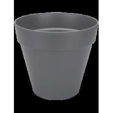 pot pour plantes et arbustes gris foncé.