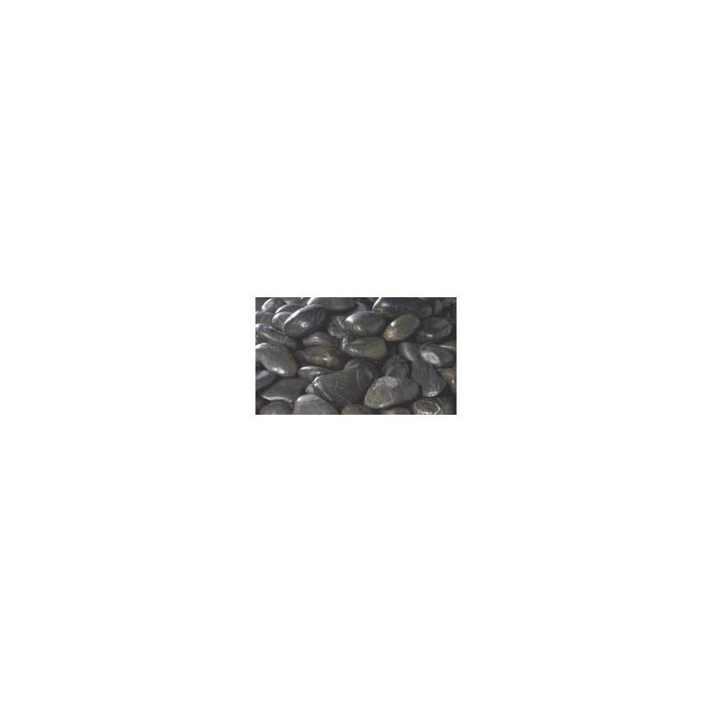 Galets gris foncé